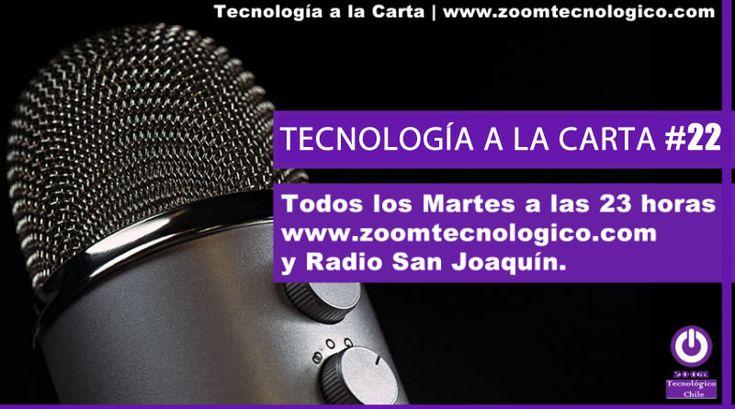 Tecnología a la Carta es un programa de radio dedicado a la tecnología, dispositivos móviles y temas relacionadas a la ciencia.