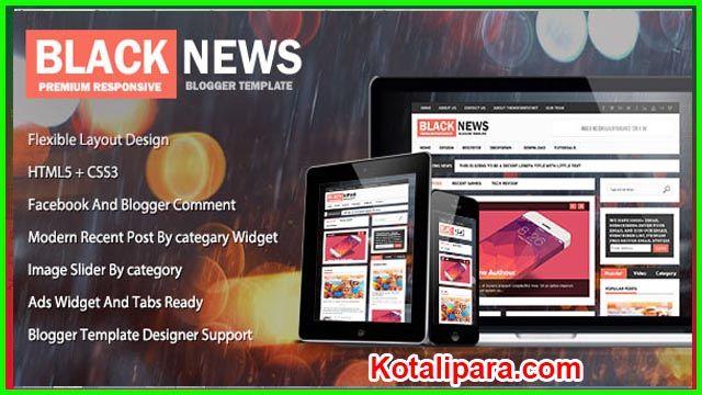 Blacknews Themeforest Magazine Premium Blogger Theme Free