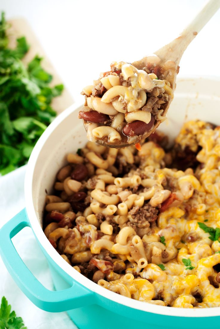 One Pot Chili Mac and Cheese | asimplepantry.com