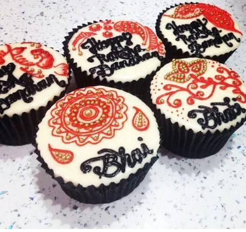 Raksha Bandhan cupcakes