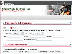 Formulario multas transito Estado de México (EDO)