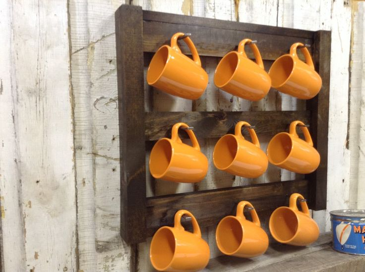 Coffee Cup Storage by SoilandSawdust on Etsy