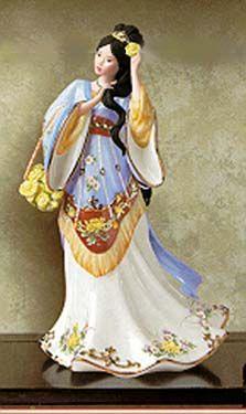 'Crysanthemum Princess' Porcelain by Lena Liu