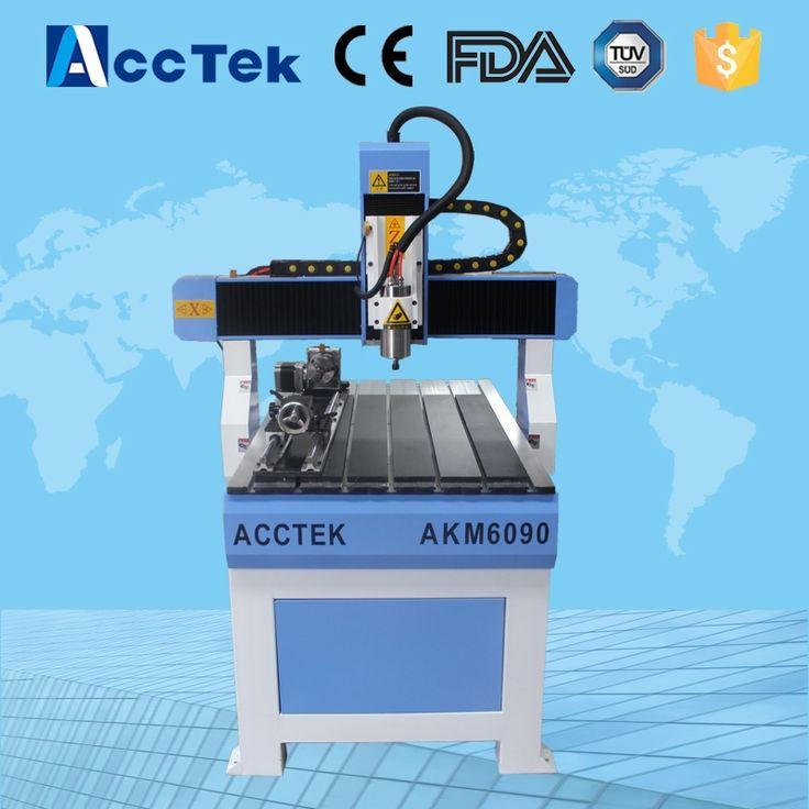 (2600.00$)  Know more  - Acctek hot sale mini cnc milling router 6040/6090/6012 simple wood cutting machine