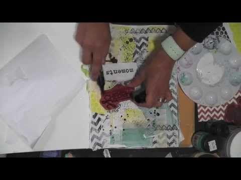 Mixed Media Friday - Art Journal freedom tutorial - YouTube