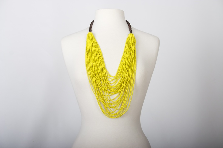 Cartagena Necklace   Bright Sunny yellow   Handmade.  Spring-Summer 2013  www.CordoBags.com