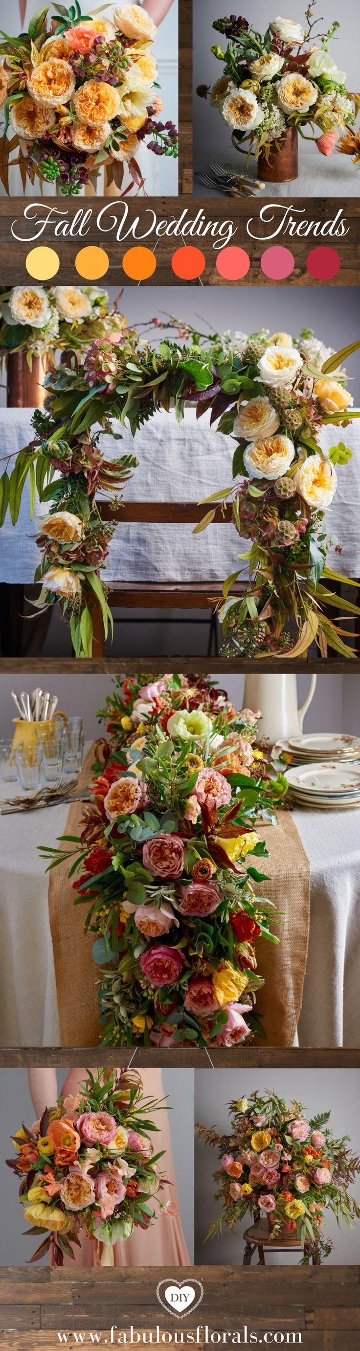 Fall Wedding Ideas Fall wedding Colors.  Autumn centerpieces and Fall decor. Wedding Trends holiday autumn Weddings #fallweddingideas #fallweddingcolors #fallweddingtheme