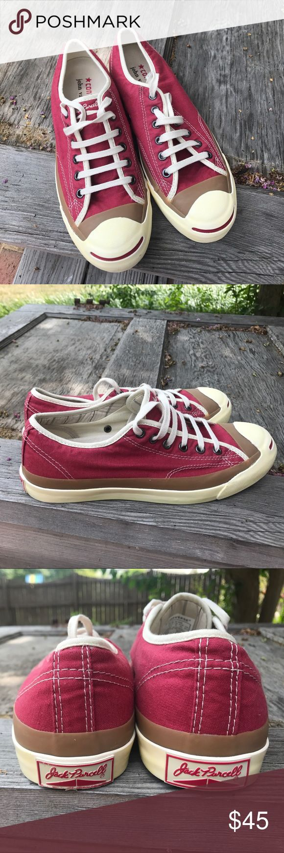 Converse Jack Purcell Chuck Taylor shoes Red 8.5 Converse Jack Purcell Limited Edition John Varvatos shoes Red 8.5 (Men size 7). Pre-owned Converse Shoes Sneakers