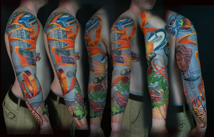 Hot Wheels Sleeve Tattoo Licious Hawaii | Sean McCreadyTattoolicious
