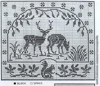 Szydełkomania: Bez fotografii - filet crochet and embroidery designs are wonderful resources for drawloom design!