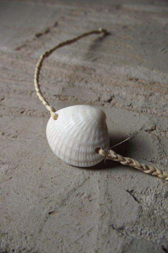 Été souhaits - bijoux de coquille de mer - fibre Bracelet