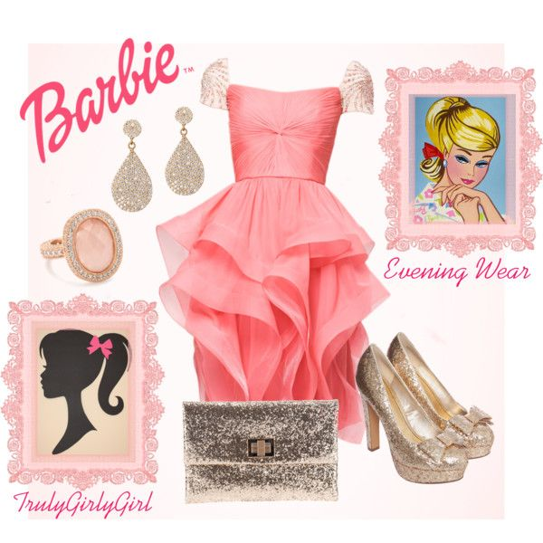 """Barbie: Evening Wear"" by trulygirlygirl on Polyvore"
