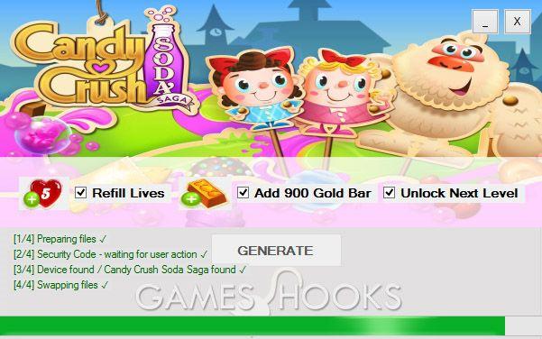 Candy Crush Soda Saga Hack   Games Hooks