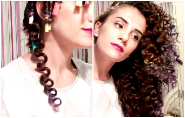 How to get Spiral Curls without heat Overnight - Tight Curls with Straws