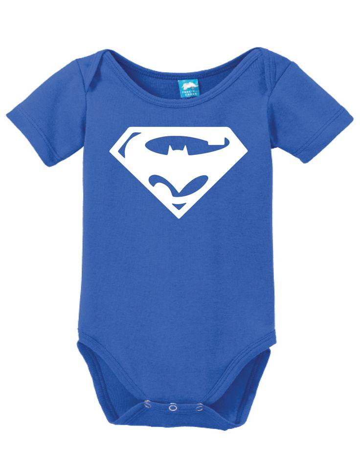 Superman Vs Batman Onesie Funny Bodysuit Baby Romper