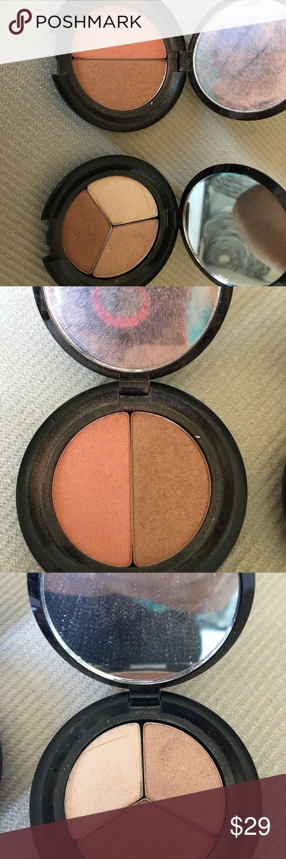 Lorca - hot & spicy and bronzed bombshell compacts Lorac Hot & Spicy Due and Bronzed Bombshell Compacts (like new)! BLUSH/BRONZER DUO - HOT & SPICY compact contains a color coordinating powder blush and powder bronzer along with a brush for the perfect face makeup look even if on the go! EYE SHADOW TRIO - BRONZED BOMBSHELL- silky-smooth unique texture, these highly pigmented, long-lasting shades are designed to be applied either wet, for a more dramatic effect, or dry for a natural eye…