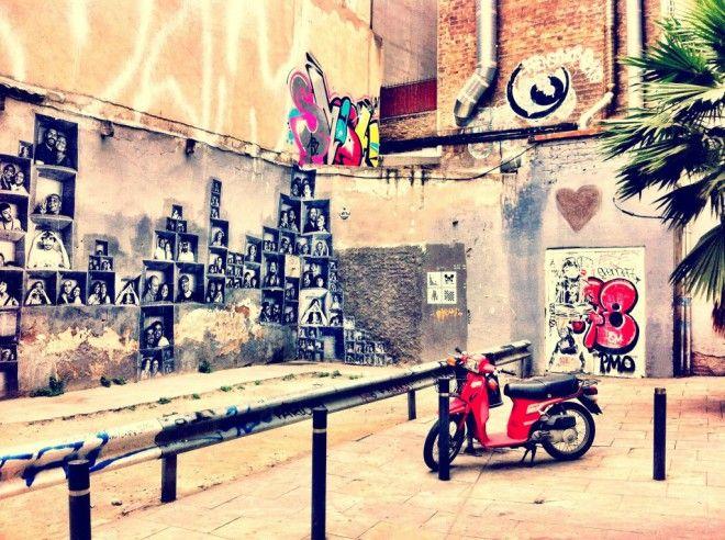 Amazing Graffiti in the back streets of El Born and El Gotico in Barcelona