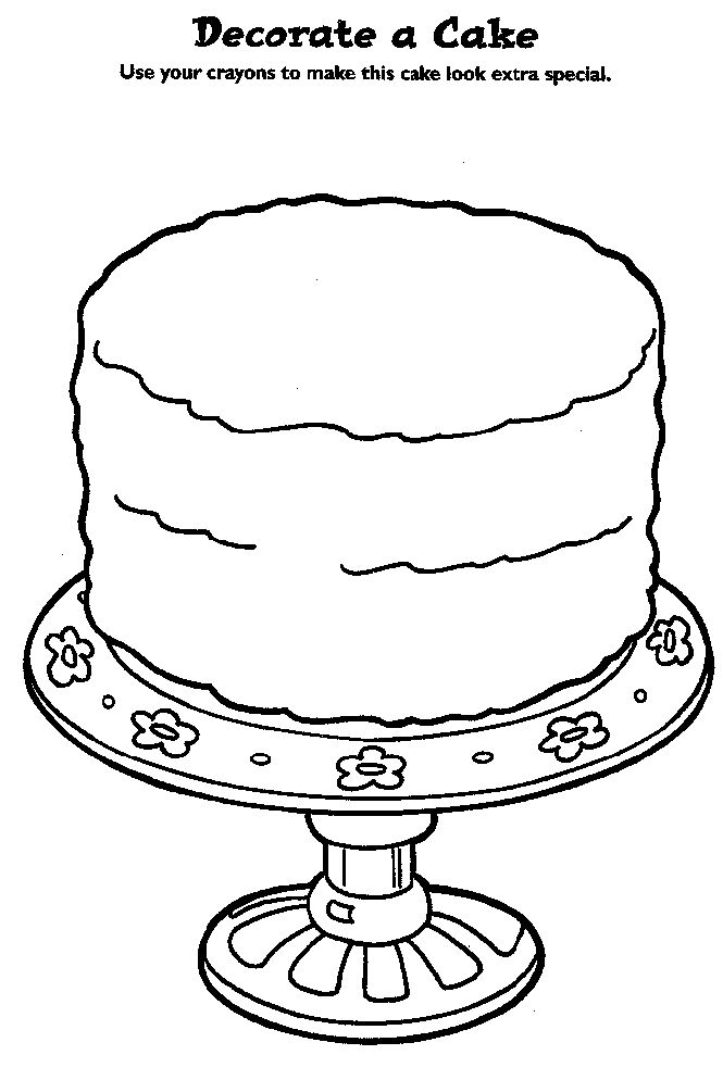Coloring Book Design Your Own Birthday Cake