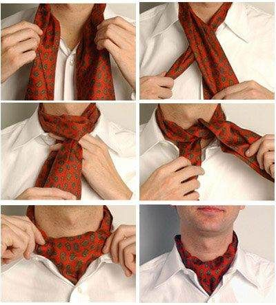 STYLE TIP: A skill every gentleman should know - How to tie an ascot.  ---> FOLLOW US ON PINTEREST for Style Tips, our current SALES, men's Wardrobe essentials etc... ~ VujuWear
