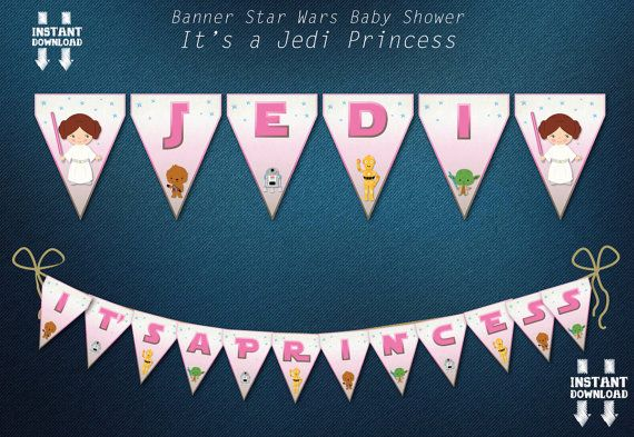 STAR WARS Decor Pennants Banner Flags Digital by BolleBluParty
