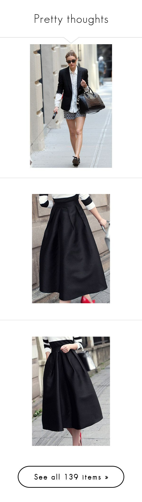 """""""Pretty thoughts"""" by clothesmonkey ❤ liked on Polyvore featuring skirts, high waisted midi skirt, midi circle skirt, circle skirts, high-waisted skirts, high waist skirt, black, knee length a line skirt, high-waist skirt and midi skirt"""