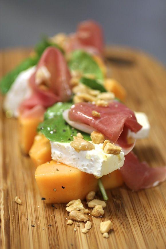 ... Salad, Prosciutto Saint, Almonds Melon, Prosciutto Melon Salad, Salad