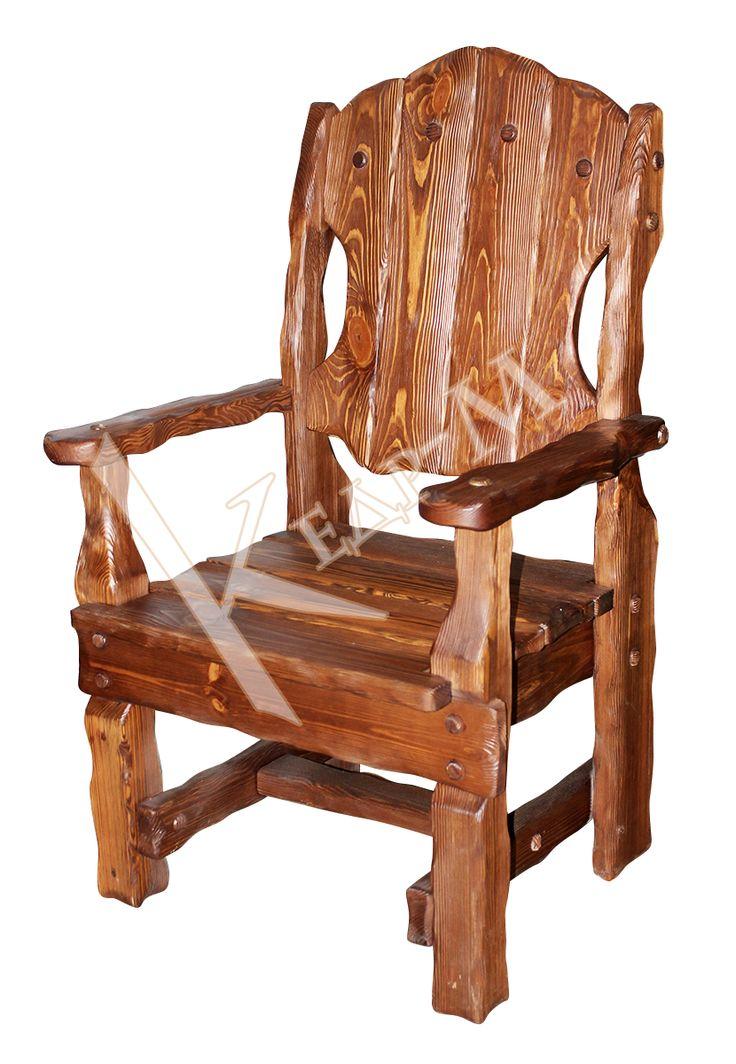Кресло Добряк - деревянная мебель под старину Кедр-М.