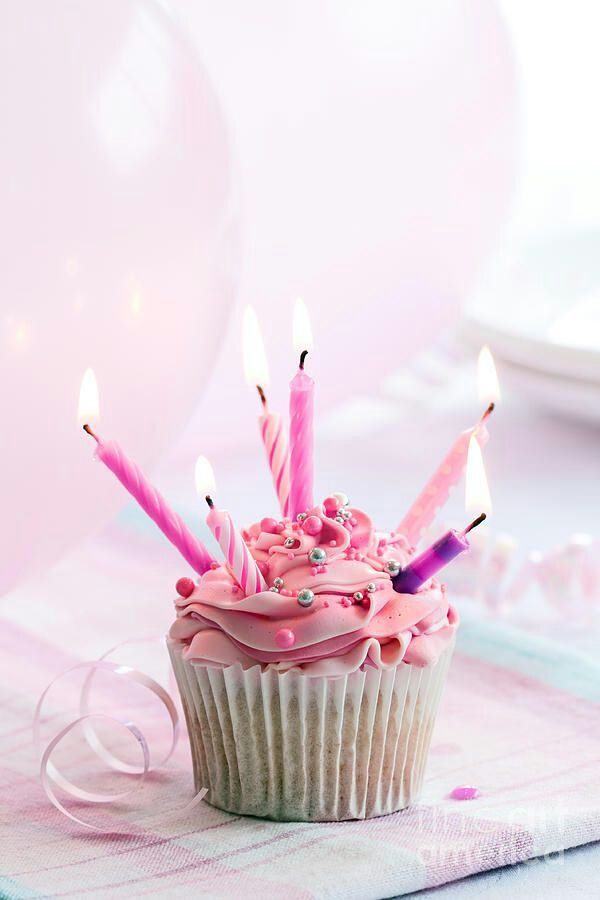 #PANDORATexas loves this cute picture of candles on a cupcake.