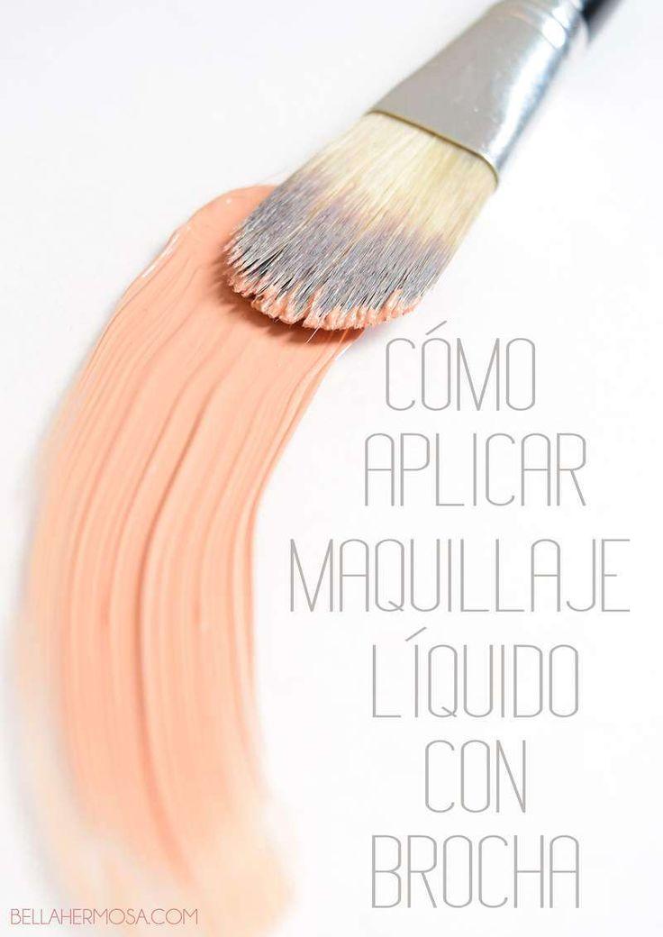 Cómo Aplicar Maquillaje Líquido Con Brocha Paso A Paso