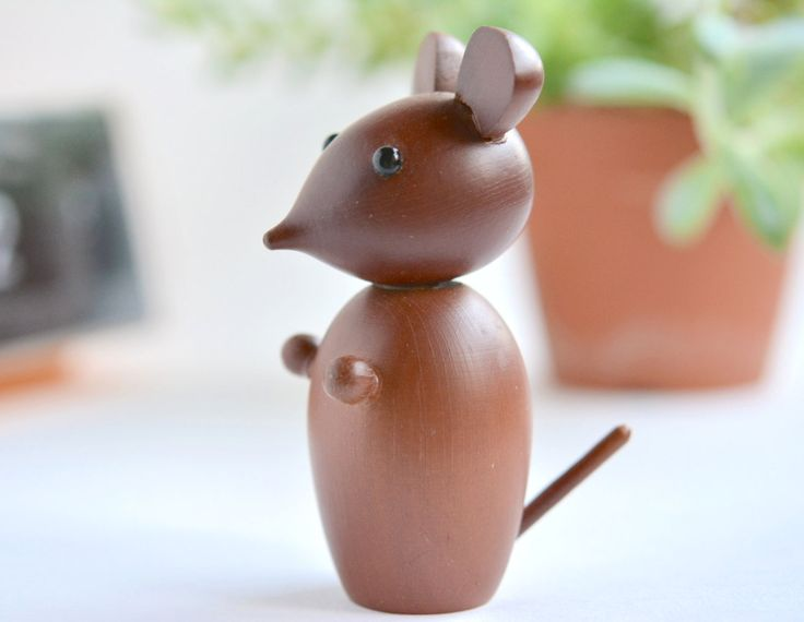 A Vintage Japanese Authentic Wooden Mouse by MinimalismOnline