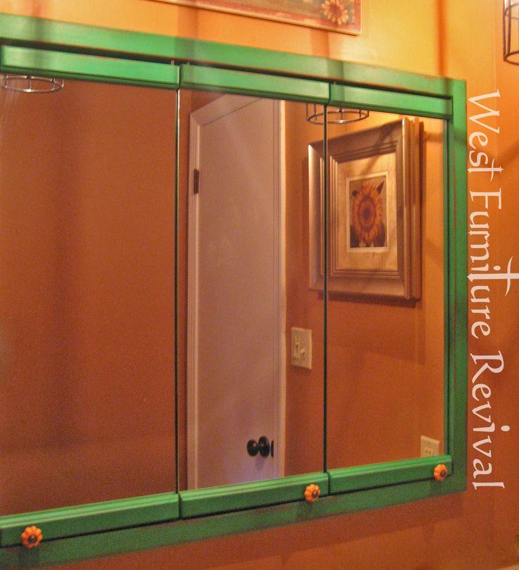 West Furniture Revival: OLE' TIME 3 MIRROR MEDICINE CABINET REDO