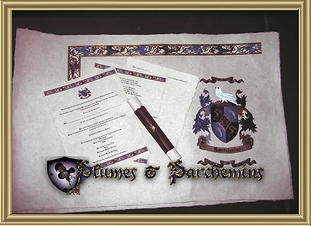 Medieval Weddings, Hand Painted Medieval Parchment And Medieval Wedding  Invitation