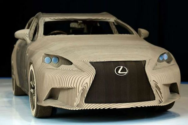 Lexus Really Have Made A Working Full-Size Origami Car From Cardboard!
