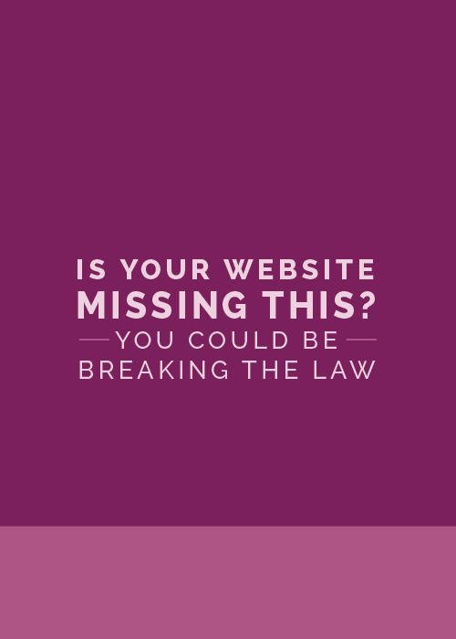 Is Your Website Missing This? You Could Be Breaking the Law - The Elle & Company Collaborative
