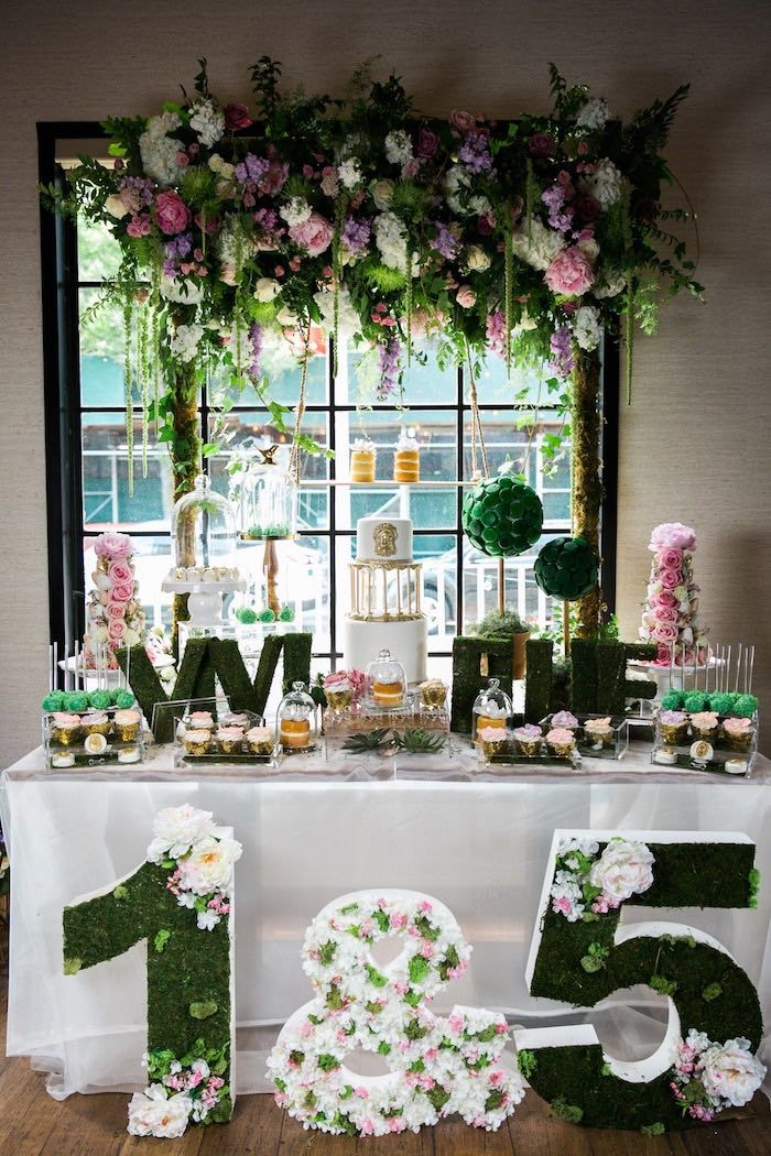 This Secret Garden Birthday Party Is Like No Other Styled With These Theme Kara S Ideas Brings You Pure Bliss