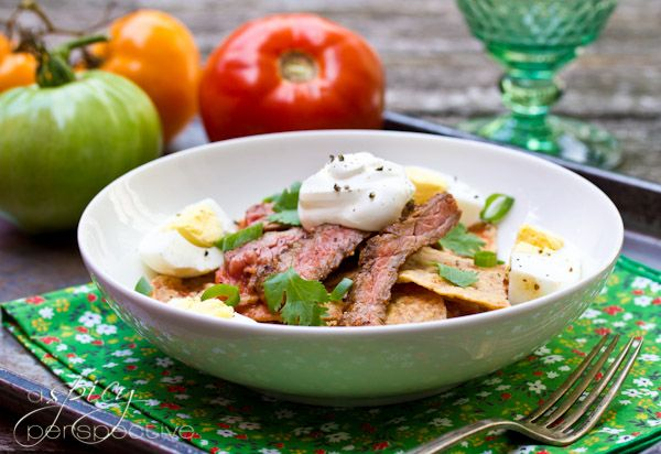Chilaquiles Recipe with Marinated Skirt Steak | Recipe ...
