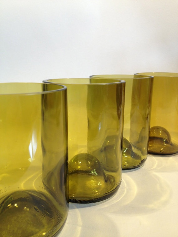 glasses made from chardonnay wine bottles set of 4