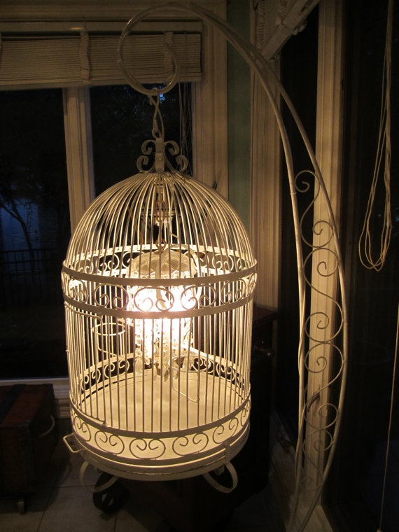 standing vintage birdcage chandelier i have this very vintage the chandelier - Birdcage Chandelier