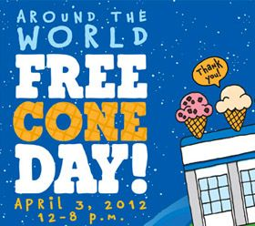 Ben & Jerry's Free Cone Day.