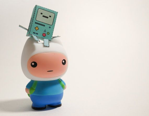 Adventure Time inspired Finn the Human Vinyl Toy by AverageJ, $13.00