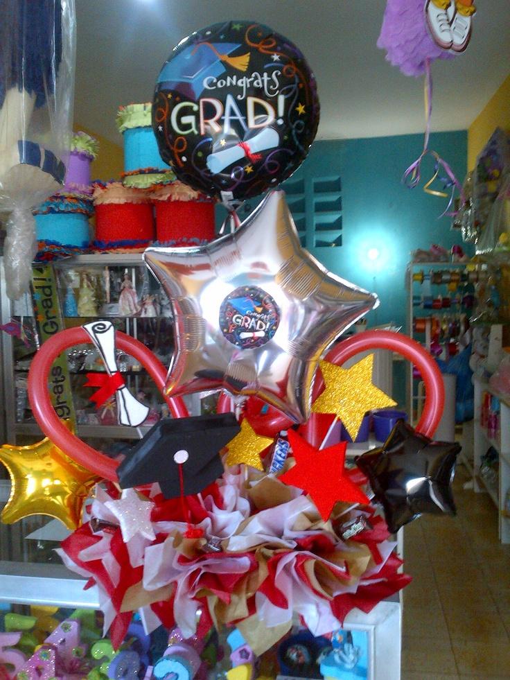 Areglo de mesa en globos metalico vejigas pencil - Lo ultimo en decoracion ...