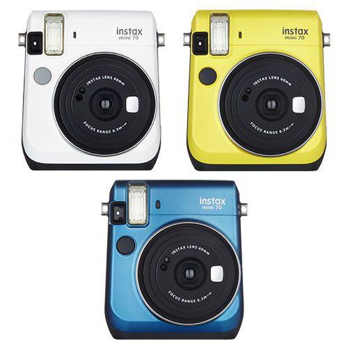 Fujifilm Instax Mini 70 Fuji Instant Film Camera All Colors  White Yellow Blue