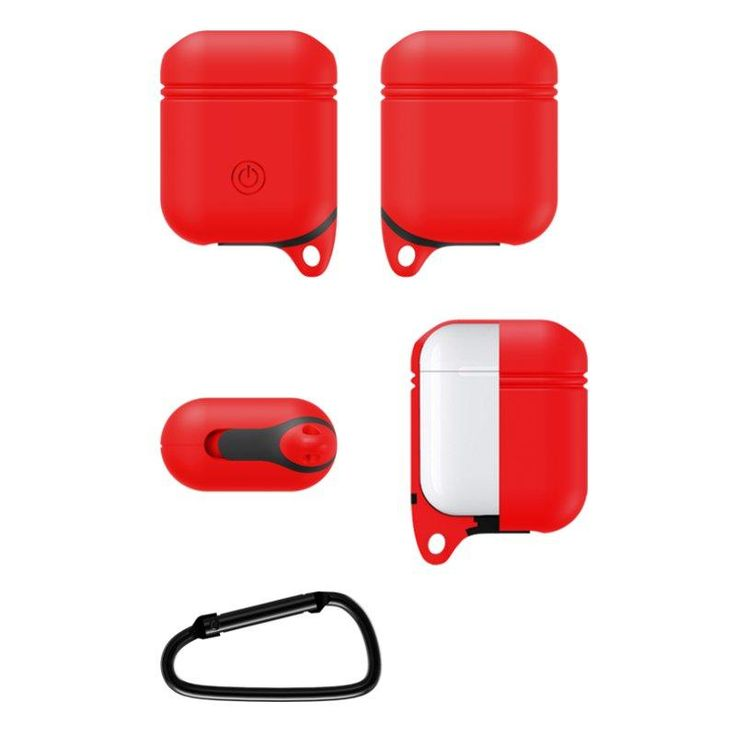 Bakeey Waterproof Shockproof Earphone Case With Hook For Apple AirPods Sale - Banggood.com