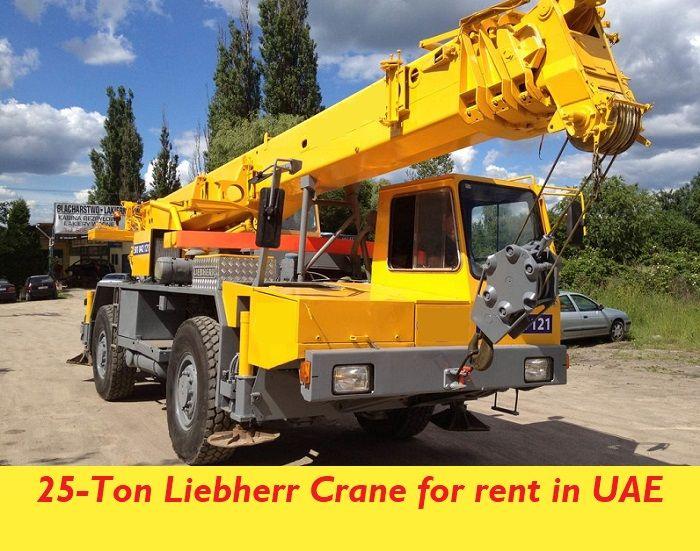 Liebherr 25 Ton Crane Ltm 1025 For Rent In Fujairah Uae