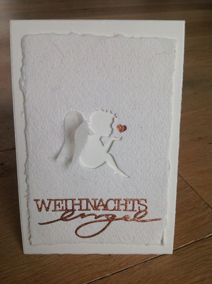 Weihnachtskarte, Engelskarte, Alexandra Renke, Engelsflügel, Weihnachtsengel,