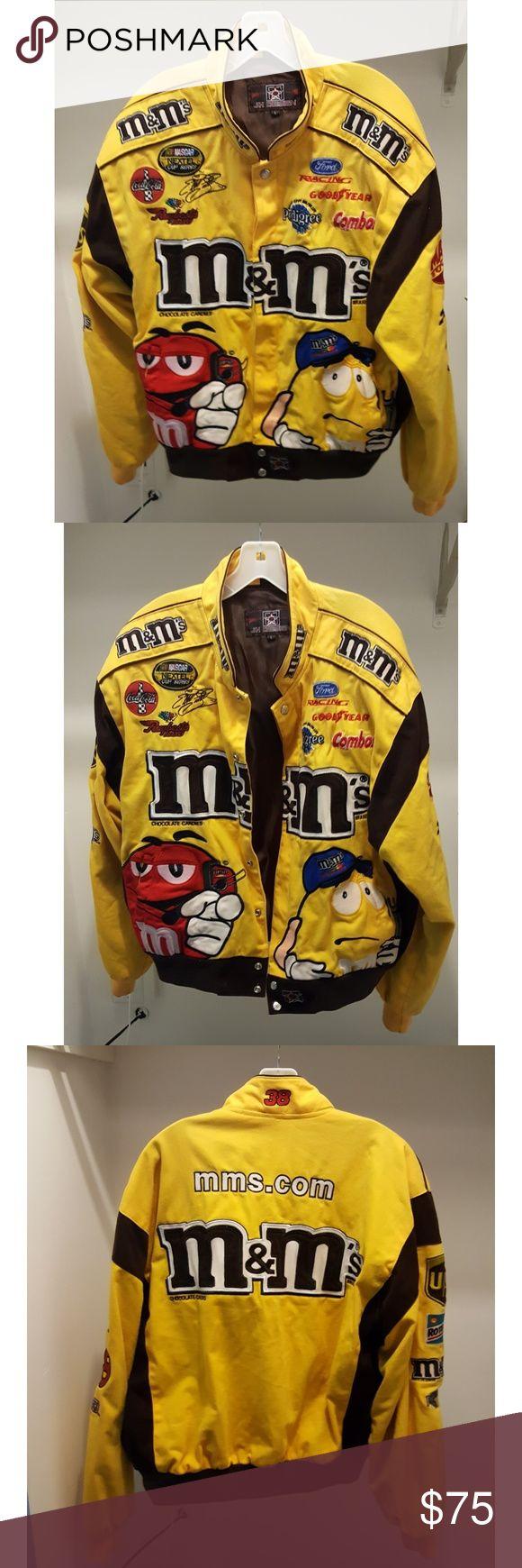 🔥NASCAR JACKET🔥 Hello,  You will receive the following:  A THROWBACK ELLIOTT SADLER NASCAR M&M's JACKET!!!...#38  ***Worn a few times***  ***Still in good shape***  Thanks for looking! NASCAR Jackets & Coats
