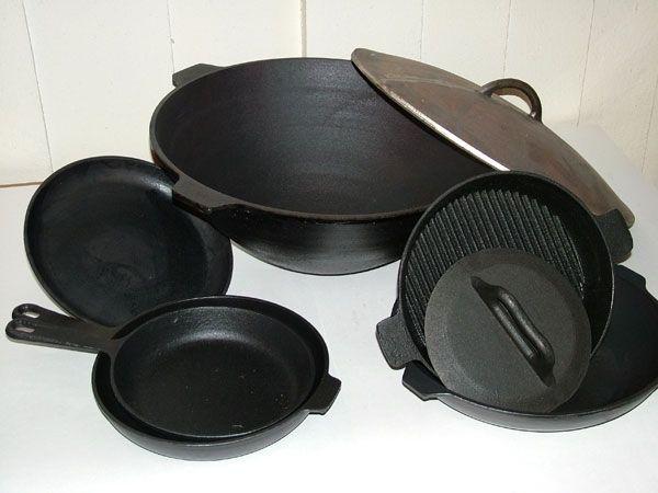 Как отмыть посуду из чугуна
