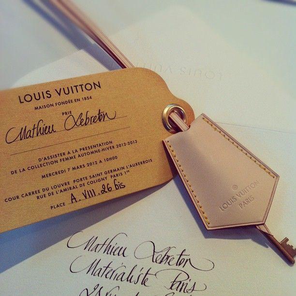 LV invitation to fashion week show