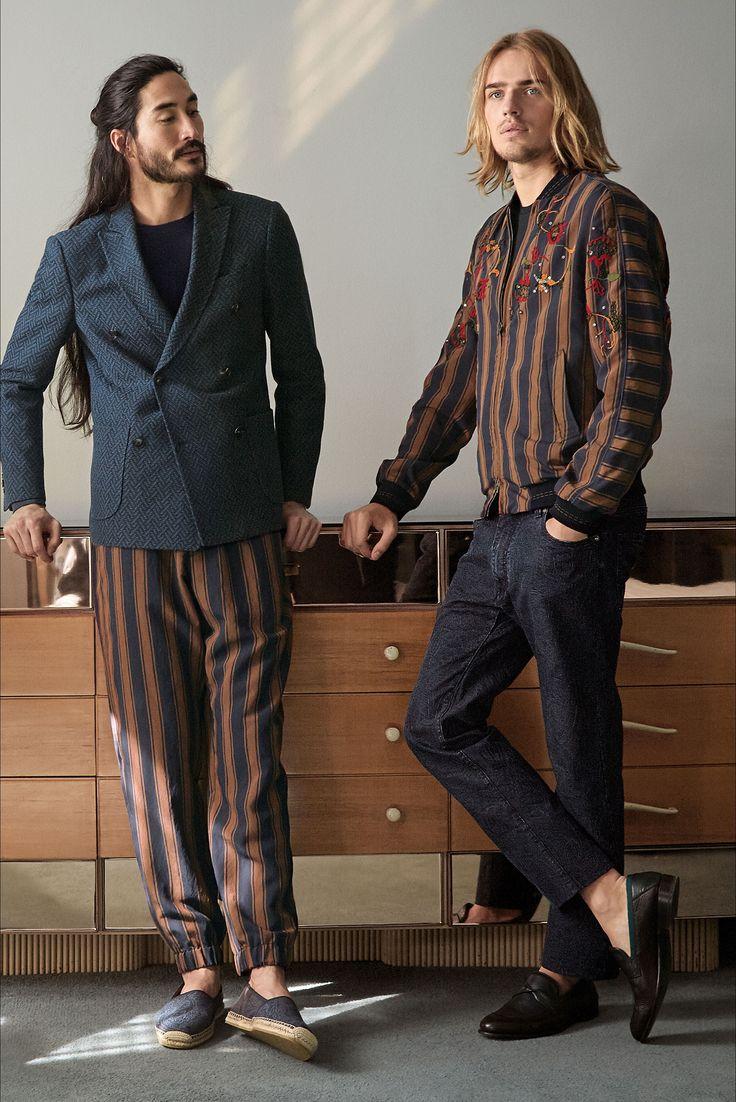 Etro - Look 20 Pantaloni a righe verticali