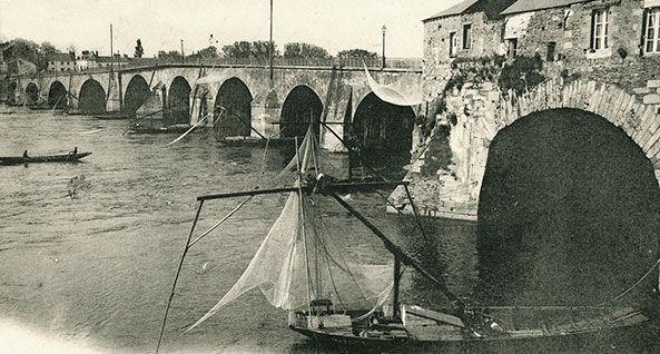 Le pont de Pirmil au début du 20e siècle